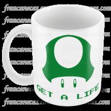 caneca personalizada get a life