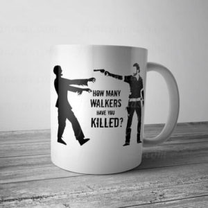 Caneca Personalizada The Walking Dead How many walkers have you killed?