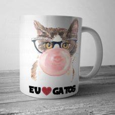 Caneca Personalizada Eu amo gatos