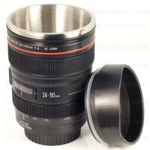 Caneca lente câmera fotográfica Canon