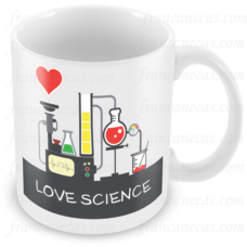 Caneca Personalizada Love Science