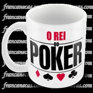 caneca personalizada o rei do poker