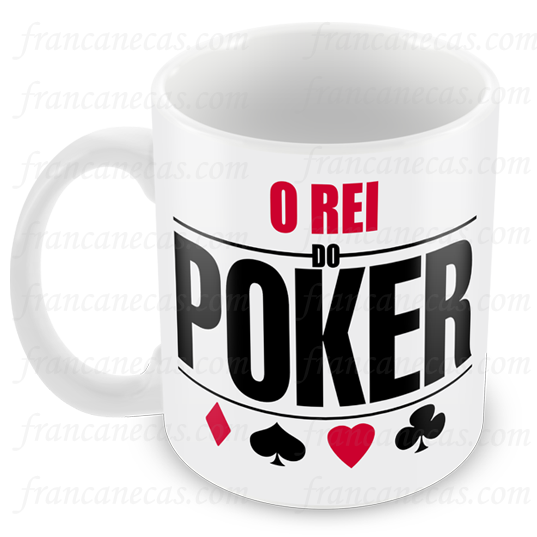 caneca personalizada o rei do poker