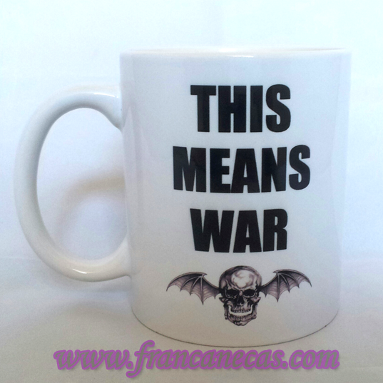 caneca personalizada this means war